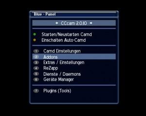Dreambox Addons aufrufen