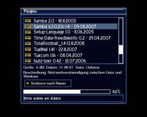Samba Server auswählen