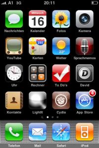 IPhone mit Cydia