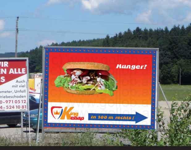 16-Bogen Plakat im Querformat - Hunger?