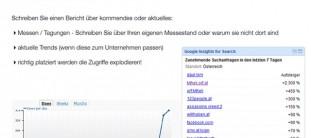 Vortrag - Zugriffe auf Webseite steigern